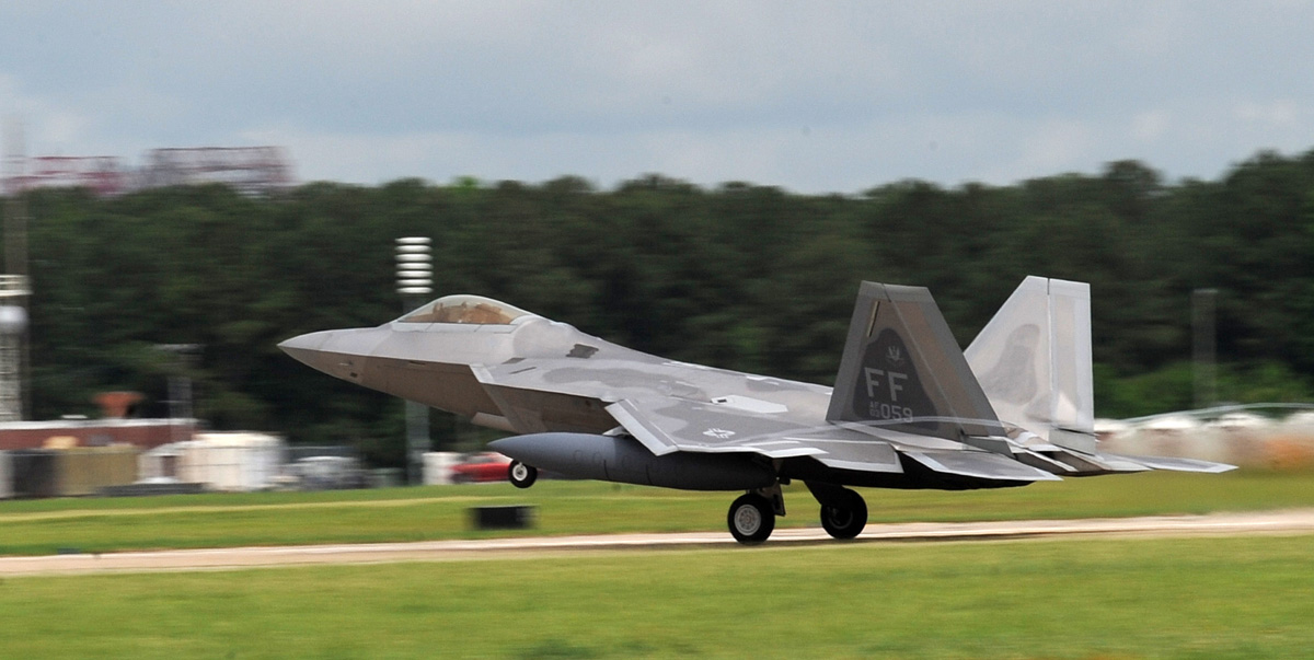 Final production F-22 delivered to its home in Alaska